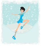 Beautiful ice skater Stock Image