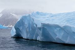 Beautiful iceberg or ice floe, Antarctic ocean Stock Images