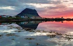 Beautiful Iceland Mountain Landscape Royalty Free Stock Photo