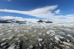 Icelandic glacier fjallsarlon. Beautiful icelandic glacier fjallsarlon landscape Stock Photos