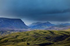Mountains in Iceland Royalty Free Stock Photo