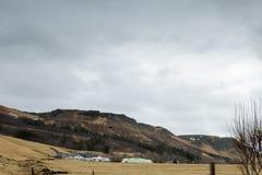 The beautiful Icelandic landscape in Skogar royalty free stock image