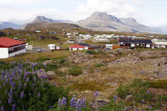 Beautiful Icelandic town Royalty Free Stock Photography