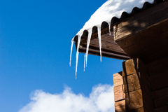 Beautiful icicles Stock Images