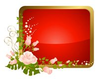Beautiful icon from roses Royalty Free Stock Photo