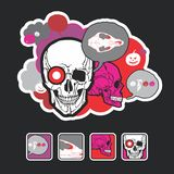 Beautiful Icons And Composition With A Skull Royalty Free Stock Photography