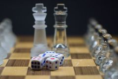 A set of 5 Dices royalty free stock photos