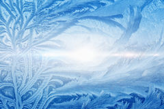 Beautiful icy pattern Stock Photo