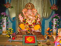 Beautiful idol lord Ganesh-IV Stock Photos