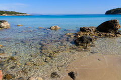 Beautiful idyllic turquoise waters shoreline Stock Images