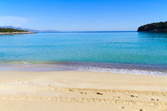 Beautiful idyllic turquoise waters shoreline Royalty Free Stock Images