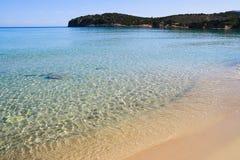 Beautiful idyllic turquoise waters shoreline Royalty Free Stock Images