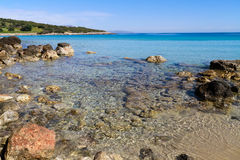 Beautiful idyllic turquoise waters shoreline Stock Image