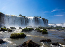 Beautiful Iguassu Falls in Brazil, South America Stock Photo