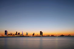 Beautiful illuminated buildings and Bahrain skyline Royalty Free Stock Photography
