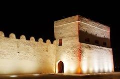Beautiful illuminated entrance of Riffa fort, Bahrain Stock Image