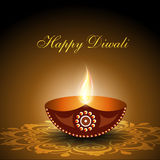 Beautiful illuminating Diya Royalty Free Stock Photo