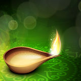 Beautiful illuminating Diya background Stock Photos