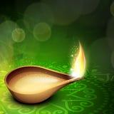 Beautiful illuminating Diya background. For Hindu community festival Diwali or Deepawali in India. EPS 10 Stock Photos