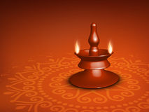 Beautiful illuminating Diya background Stock Image