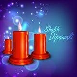 Beautiful illuminating Diya background Stock Images