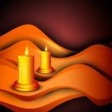 Beautiful illuminating Diya background Royalty Free Stock Photos