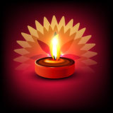 Beautiful illuminating Diya colorful background Royalty Free Stock Photography