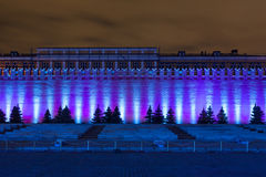 Beautiful illumination show on wall of the Kremlin Stock Photos