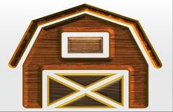 Beautiful illustration of a barn stock illustration