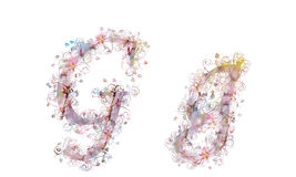 Beautiful illustration of both uppercase and lowercase letters m Stock Photos