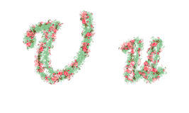Beautiful illustration of both uppercase and lowercase letters. Stock Photos
