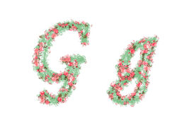 Beautiful illustration of both uppercase and lowercase letters. Stock Photography