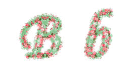 Beautiful illustration of both uppercase and lowercase letters. Stock Photo