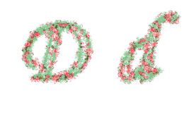 Beautiful illustration of both uppercase and lowercase letters. Royalty Free Stock Photography