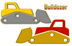Beautiful illustration of Bulldozer with space for logo and advertisement vector illustration