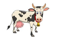 A beautiful illustration of cow royalty free illustration