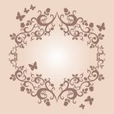 Beautiful illustration of floral ornament for your design Stock Images
