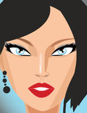 Beautiful illustration girl. Image of a Beautiful illustration girl Royalty Free Stock Photo