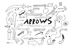 A beautiful illustration of hand drawn arrows. That can be used in different ways Royalty Free Stock Photo