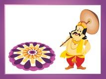 Beautiful illustration for happy onam. Wallpaper for onam Stock Images
