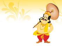 Beautiful illustration for happy onam Stock Photography