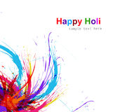 Beautiful Illustration of holi colorful grunge Stock Image