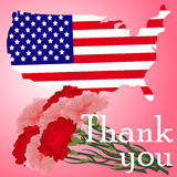 Beautiful illustration by memorial day USA Royalty Free Stock Images