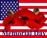 Beautiful illustration by memorial day USA Royalty Free Stock Photos