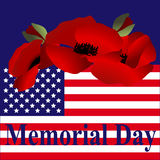 Beautiful illustration by memorial day USA Royalty Free Stock Image