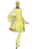 Beautiful illustration of Moslem's fashion Royalty Free Stock Photos