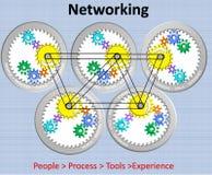 Beautiful Illustration of Networking royalty free illustration
