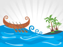 Beautiful illustration for onam Stock Image