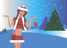 Beautiful illustration people person snow vector Stock Photo
