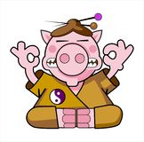 Beautiful illustration of the pig-Samurai Royalty Free Stock Images